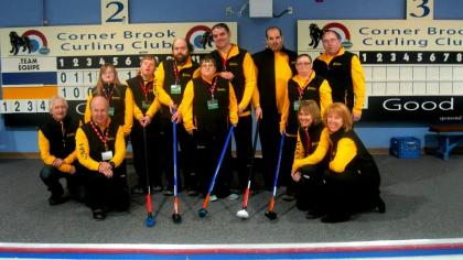 Gander Wings Curling Athletes and Coaches