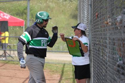 Softball Athlete with Coach