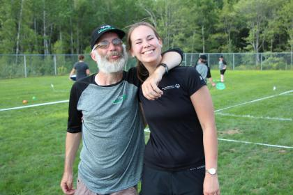 Athlete with Volunteer; Bocce