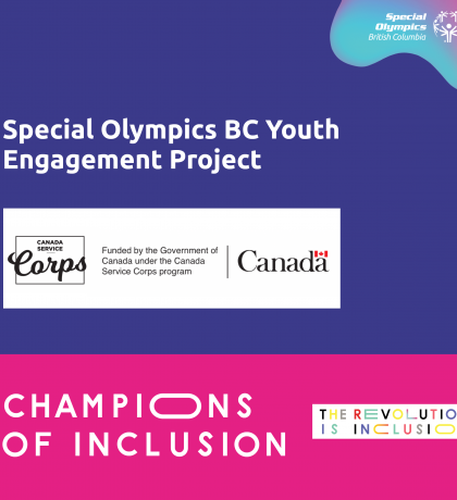 Special Olympics BC Youth Engagement Project Champions of Inclusion