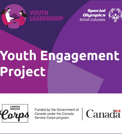Special Olympics BC Youth Engagement Project supported by the Government of Canada under the Canada Service Corps program