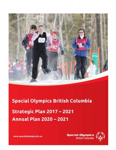 Special Olympics BC 2017-2021 Strategic Plan cover