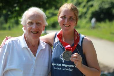 Dr. Frank Hayden and SOBC - Coquitlam athlete Mandy Manzardo